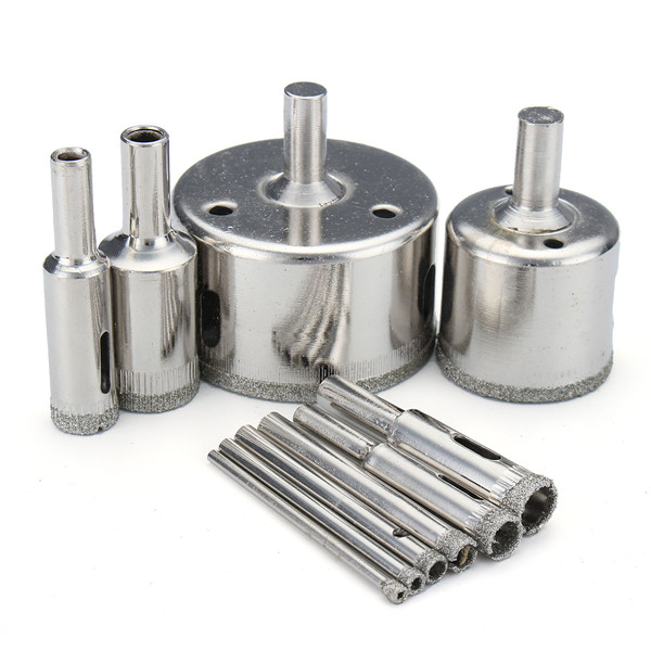 10Pcs Diamond Coated Drill Bits 3-50mm Hole Saw Cutter