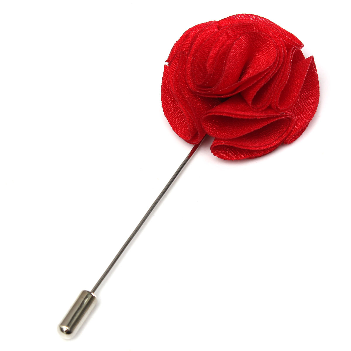 Handmade Fabric Lapel Boutonniere Brooch Pin Mens Accessories