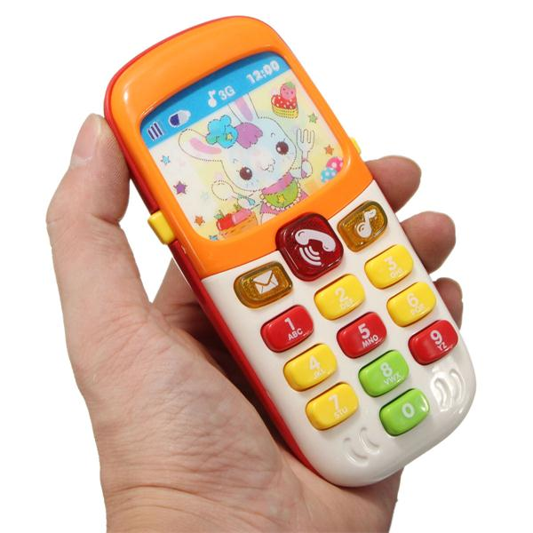 Electronic Toys Kid Mobile Cell Phone Telephone Educati