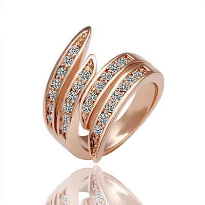 JASSY� Brand Women Rose Gold Ring Crystal Jewelry Clothing Accessories Gift