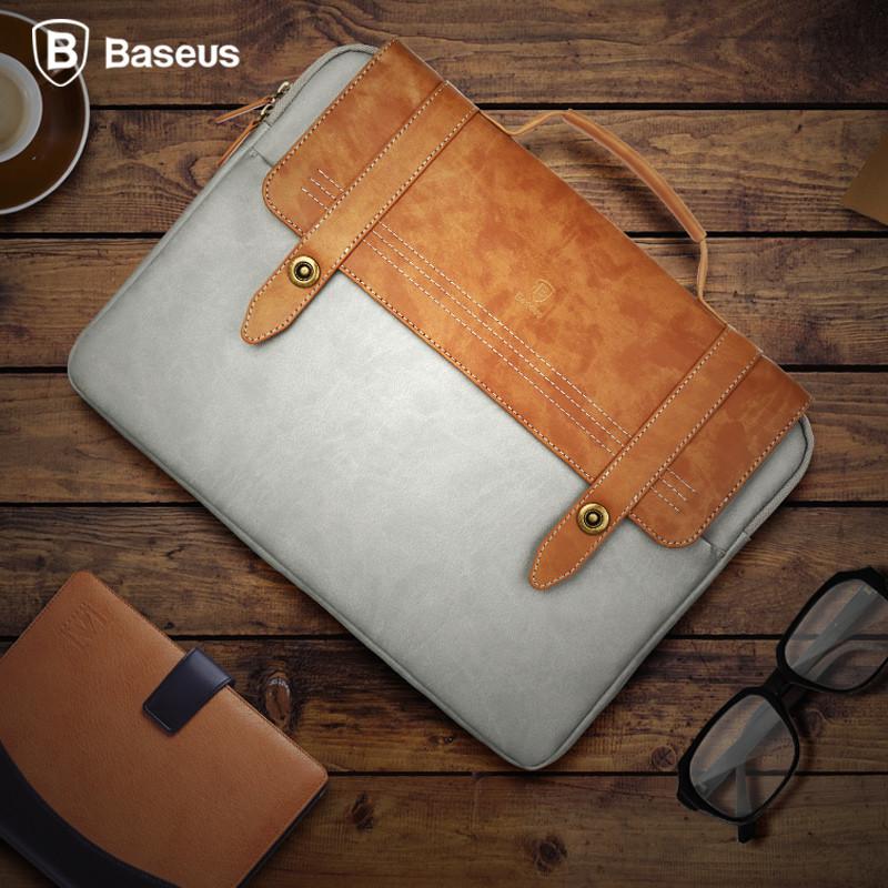 BASEUS Universal Vintage Soft PU Dropproof Handbag Protective Bag For Macbook Air Pro Laptop Tablet