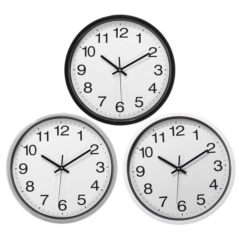 12 Inch Silent Sweep Non-Ticking Wall Clock For Office