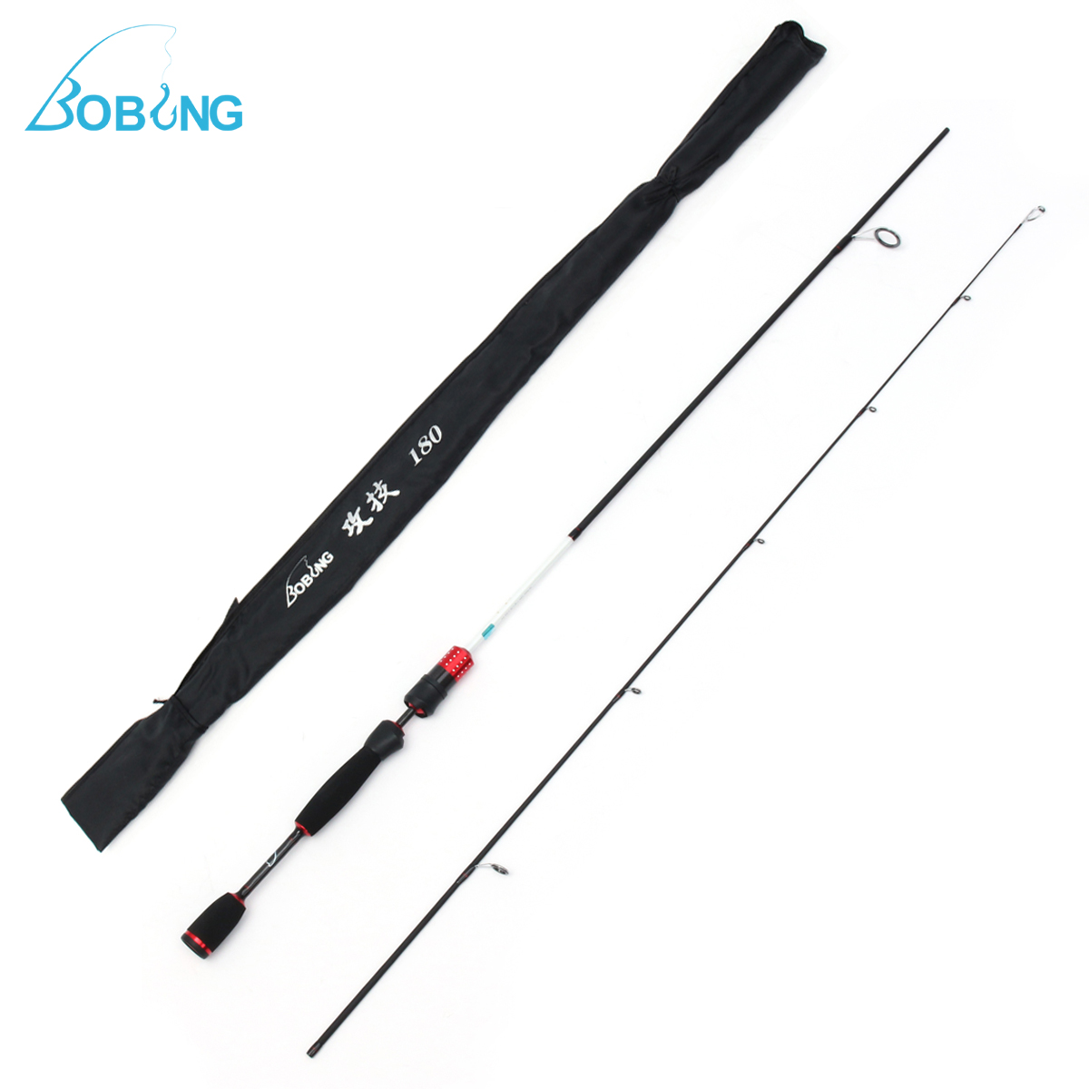 Bobing 1.8m Carbon Fiber Spinning Fishing Rod 3KG Load