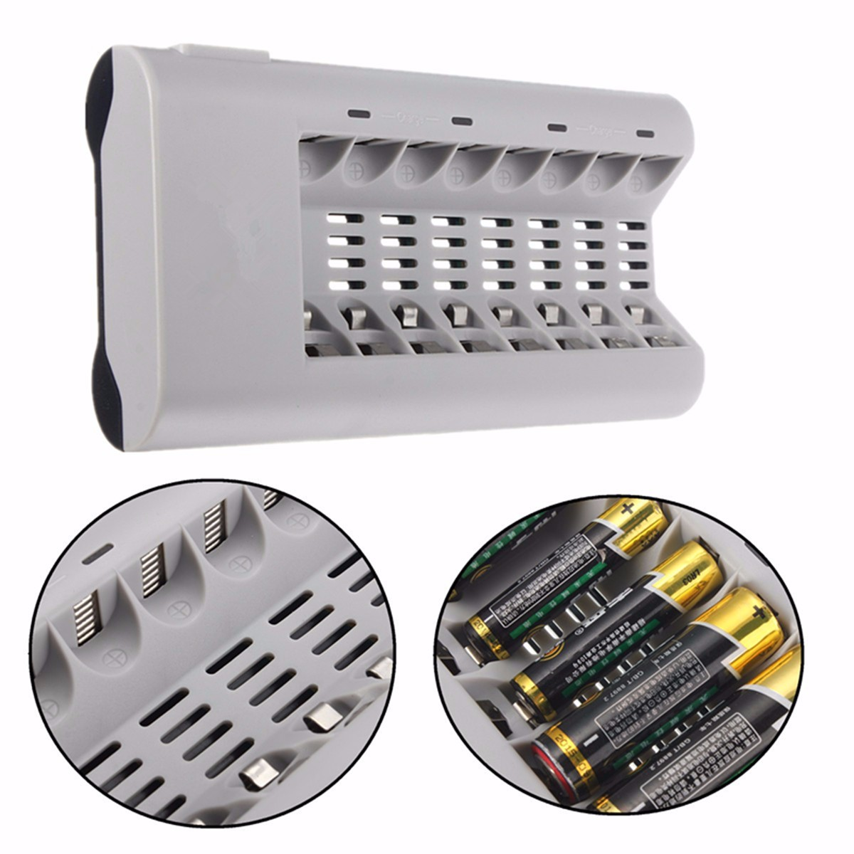 8 Slot Intelligent Battery Charger For AA AAA NI-MH NI-