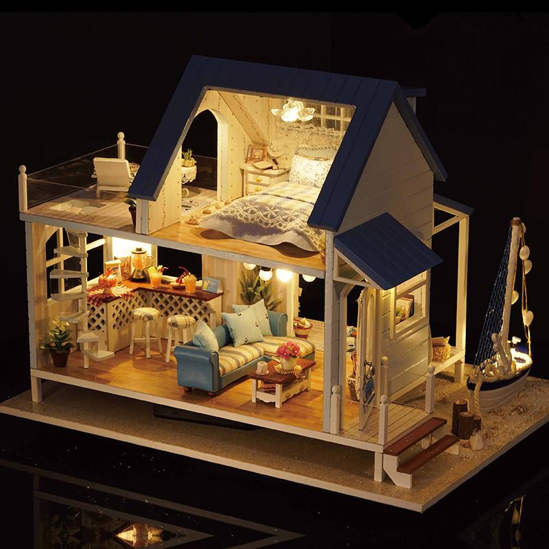CuteRoom-A-037-A-Caribbean-DIY-Dollhouse-Miniature- & CuteRoom A-037-A Caribbean DIY Dollhouse Miniature Kit With Light ...