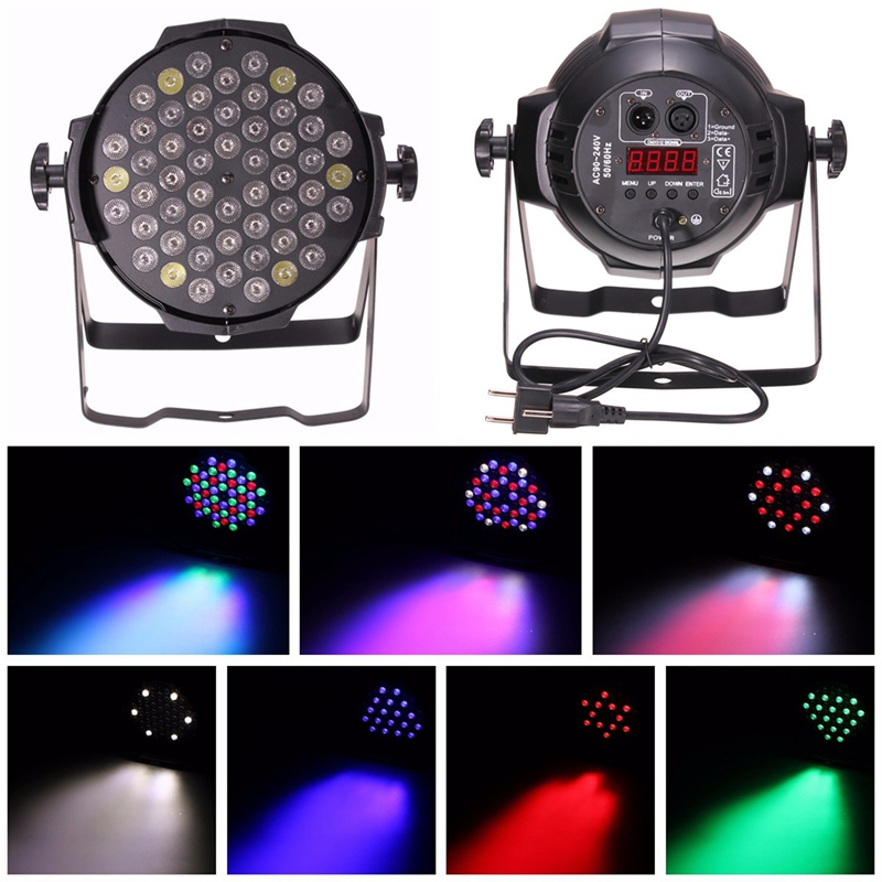 54pcs 3W 6CH LED RBGW 180W Stage Par Lighting Music Clu