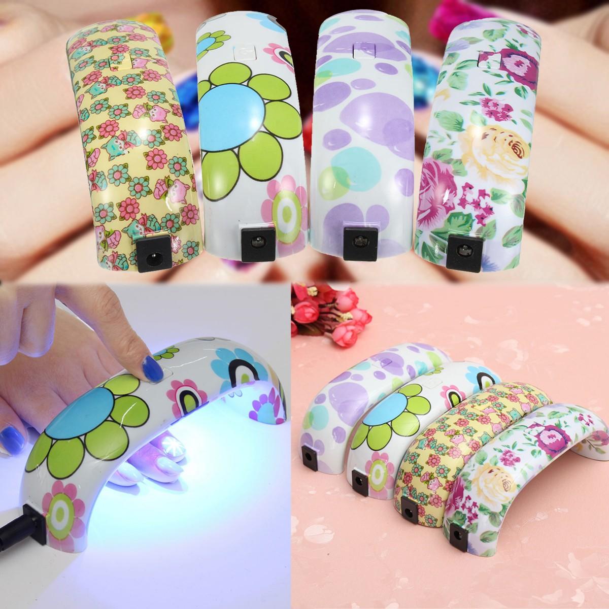 9W Mini LED Nail Dryer Curing Lamp Machine UV Gel Nail