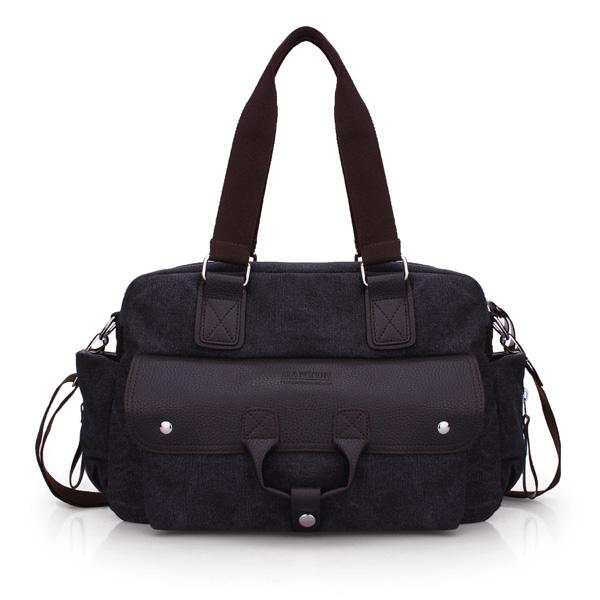 Men's Casual Retro Canvas Bag Large Capacity Shoulder Bags Handbag