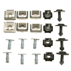 Set Undertray Guard Engine Cover Fixing Fitting Clips Screws Kit For AUDI A4 A6