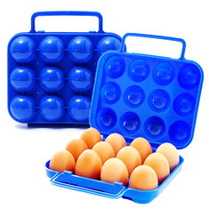 Portable Plastic Carry 12 Eggs Folding Box Case Container Storage Holder