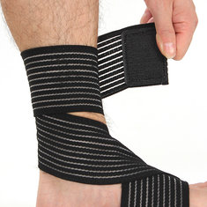 2Pcs Elastic Brace Protection Ankle Sport Compression Bandage