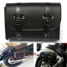 Motorcycle Saddle Leather Bag Storage Tool Pouch For Harley Davidson