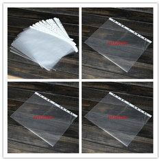 100PCS Transparent Plastic A4 Paper Folder