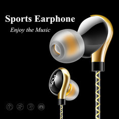 Vots Y1 Sport Earphone Headphone Running Headset Waterproof Metal Heavy Bass For iPhone Xiaomi