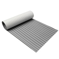 900x2300x6mm EVA Foam Grey&Black  Marine Flooring Faux Teak Boat Decking Sheet