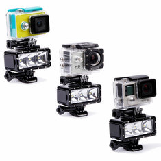 30m 3 LED Waterproof Diving Night Light Batteries For GoPro Hero 4 3 plus 3 SJ4000