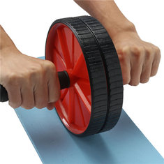 Dual Abdominal Roller Wheel With Pad Exercise Fitness Gym