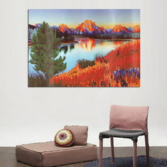 5D Diamond Painting DIY Lake Room Embroidery Cross Stitch Home Decor