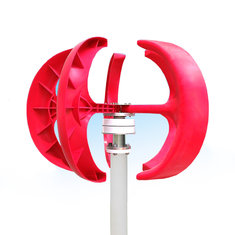 12V/24V 200W Red Lantern Style Vertical Wind Turbine Wind Power Generator