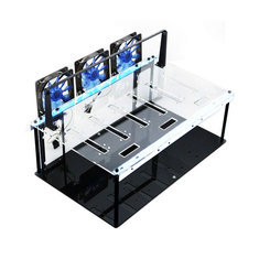 Crypto Coin Open Air Mining Miner Frame Rig Case Set for 6 GPU ETH BTC Ethereum