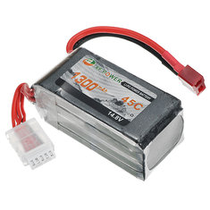 XF Power 14.8V 1300mah 45C 4S Lipo Battery T Plug
