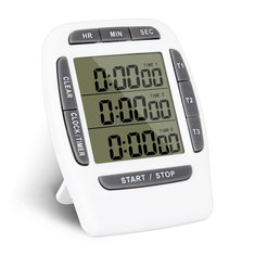 KCASA KC-CKT999 Multifunction Kitchen Timer 3 Display Channels Electronic Countdown Function Timer
