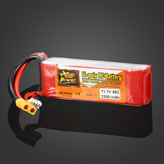 ZOP POWER 11.1V 2200MAH 3S 45C Lipo Battery XT60 Plug