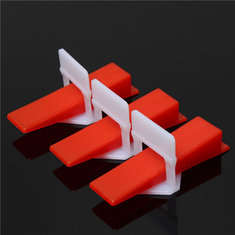 200Pcs Ceramic Tile Tiling Clips Wedges Plastic Accessibility Tool Accessories