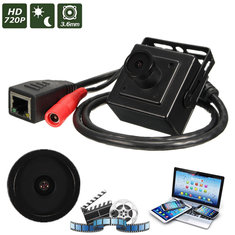 HD 720P 3.6mm Wired Mini CCTV IP Network Digital Video Camera CMOS Safty Hidden
