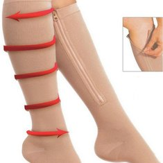 Durable Soothe Varicose Veins Compression Socks Stocking Sleep Leg Slimming