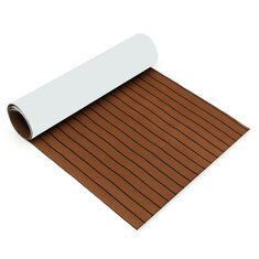 2500x1000x6mm EVA Foam Brown With Black Line Teak Sheet Boat Yacht Synthetic Teak