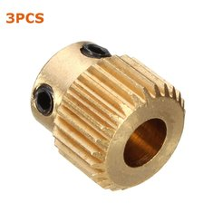 3PCS 26 Teeth Brass Extruder Gear Inner Hole 5mm With M3 Screw For 3D Printer