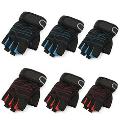 Training Fitness Weight lifting Polyester Gloves Hand Palm Guard Protector Wrist Wrap Supports