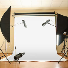10x10 ft White Backdrop Background Photo Stand Muslin