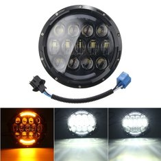7 Inch H4 H13 105W LED Headlight Hi/Lo Beam With Turn Signal For Harley Jeep