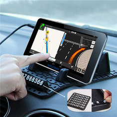 Car Dual Slots DIY Number Anti-skid Dashboard Pad Mat Holder Mount For Smartphone Navigator