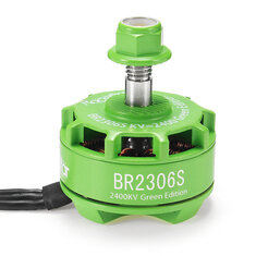 Racerstar 2306 BR2306S Green Edition 2400KV 2-4S Brushless Motor For X210 X220 250 300 Racing Frame