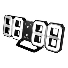 Digoo DC-K3 Multi-Function Large 3D LED Digital Wall Clock Alarm Clock With Snooze Function 12/24 Hour Display