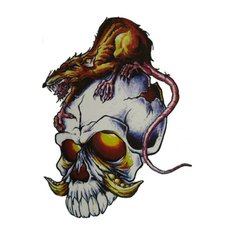 Halloween Horror Skeleton Big Picture Arm Tattoo Sticker Simulation Totem