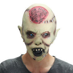 Halloween Mask Supply Headband Horror Devil Blowing Brainstorming Toys