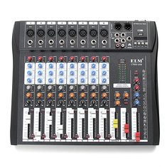 CT80S 8 Channel Professional Live Studio Audio Mixer with 48V Phantom Console