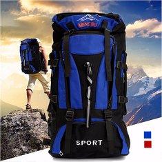 70L Mountaineering Travel Backpack Rucksack Nylon Bag Pack For Camping Hiking Trekking