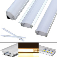 30CM Aluminum Channel Holder For LED Rigid Strip Light Bar Under Cabinet Lamp