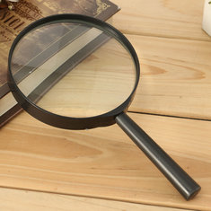 100mm 3X Handheld Magnifying Glass Minimal Distortion Magnifier Optical Reading Tool