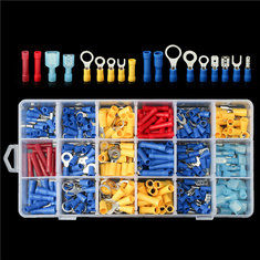 360pcs Assorted Insulated Electrical Spade Terminals Crimp Wire Connectors Kits Box