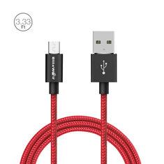 BlitzWolf® BW-MC1 2.4A Micro USB Geflochtenes Ladekabel Datenkabel 3.33ft/1m Mit Magic Tape Streifen