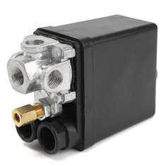 4 Port Air Compressor Pressure Switch With Unloader Control Valve On/Off Switch