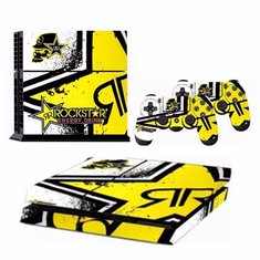 2 Skin Sticker For PS4 Play Station 4 Controller Console + 1 Console Protector Skin
