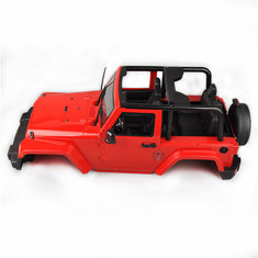 Hard Body Shell Canopy Jeep RC 1/10 SCX10/D90 Rock CRAWLER Truck Red