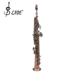 LADE WSS-899 Copper Soprano B♭ Saxophone Carved Abalone Shell Key